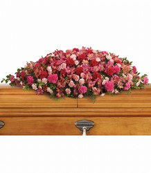 A Life Loved Casket Spray from Young Floral Co in Charleston, WV