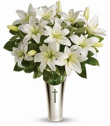 Teleflora's Sacred Cross Bouquet from Young Floral Co in Charleston, WV