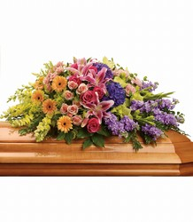 Garden of Sweet Memories Casket Spray from Young Floral Co in Charleston, WV