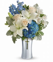 Teleflora's Skies Of Remembrance Bouquet from Young Floral Co in Charleston, WV