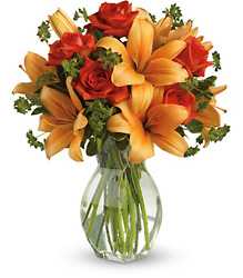 Fiery Lily and Rose from Young Floral Co in Charleston, WV
