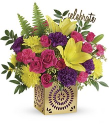 Teleflora's Colorful Celebration Bouquet from Young Floral Co in Charleston, WV