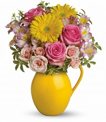 Teleflora's Sunny Day Pitcher Of Charm from Young Floral Co in Charleston, WV