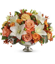 Teleflora's Harvest Shimmer Centerpiece	 from Young Floral Co in Charleston, WV