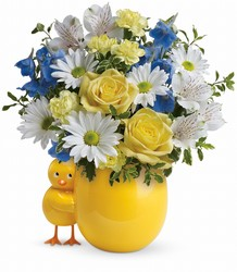 Teleflora's Sweet Peep Bouquet - Baby Blue from Young Floral Co in Charleston, WV