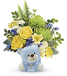 Joyful Blue Bear Bouquet from Young Floral Co in Charleston, WV