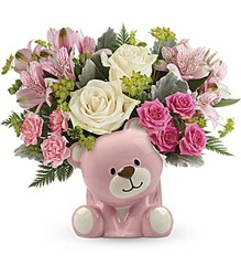 Precious Pink Bear Bouquet from Young Floral Co in Charleston, WV