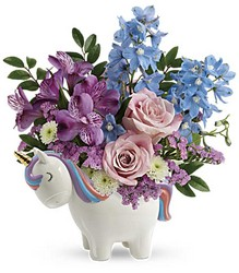 Enchanting Pastels Unicorn Bouquet from Young Floral Co in Charleston, WV
