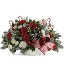 Jolly Candy Cane Bouquet from Young Floral Co in Charleston, WV