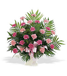 Basket with Pink Carnations from Young Floral Co in Charleston, WV